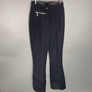 Bogner Black Nylon Blend Ski Pant Flare Zip Leg 6